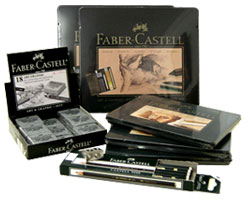 Faber Castell pencils, erasers and sharpeners