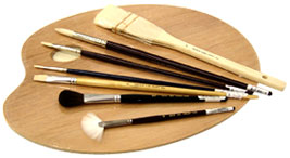 Neef paint brushes