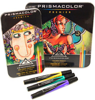 Prismacolor pencils and markers
